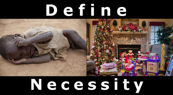 Define necessity this holiday season.