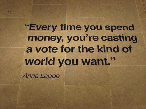 Every time you spend money... Quote