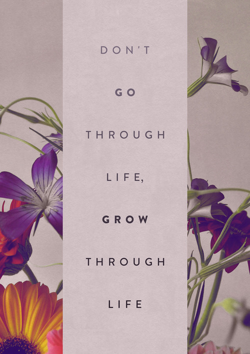 Don't go through life...Grow through life.