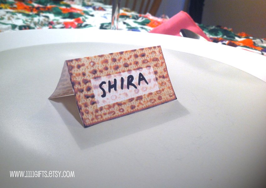 Printable Passover Place Cards for Seders