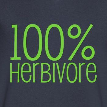 100% herbivore vegan tee