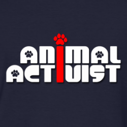 "Inspiring paw print ""Animal Activist"" t-shirts for activists, vegans, vegetarians and other animal lovers!"