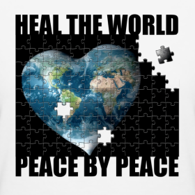 Heal the World Peace by Peace Tee