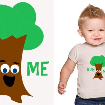 Hug Me (Treehugger) Printable Iron On T-Shirt Transfer * Cute DIY Gift Idea for Babies, Kids & Adults * Eco, Green, Tree * Instant Download!