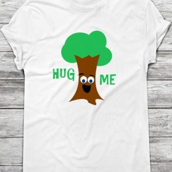 hug me treehugger t-shirt