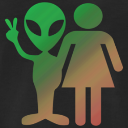 Intergalactic Couple Alien T-Shirt