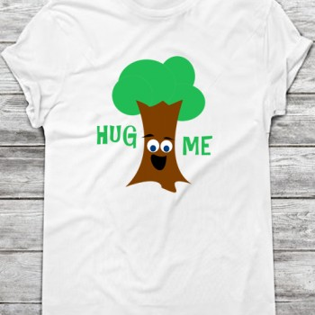 Hug Me (Treehugger) Printable Iron On T-Shirt Transfer