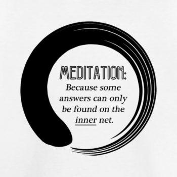 meditation inner net tee