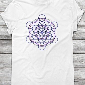 merkaba flower of life sacred geometry t-shirt