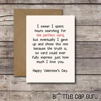 THE PERFECT CARD / Romantic Valentine's Day Card