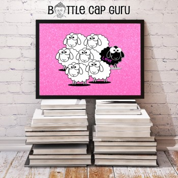Printable inspirational poster: Black Sheep (Love)