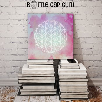 Healing Flower of Life Watercolor Art / Printable Sacred Geometry Poster