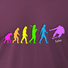 Skateboard Evolution Tee