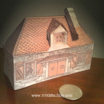 Miniature French Cottage * Print, Cut, Fold and Glue * Instant Download