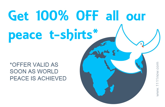 world peace free t-shirts