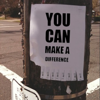 Inspiration Tear Off Flyer / You Can Make a Difference (I Will)