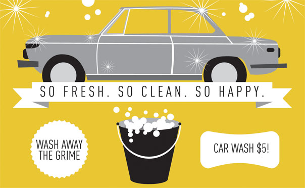 7. Wash your car, inside and out.