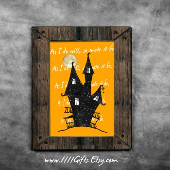 As I Do Will So Mote It Be * Printable Halloween Decor * Instant Download