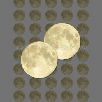 Full Moon 1 Inch Circles for Jewelry, Crafts. Printable, Instand Download