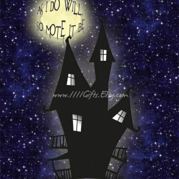 As I Do Will, So Mote It Be * Printable Halloween Poster, Full Moon