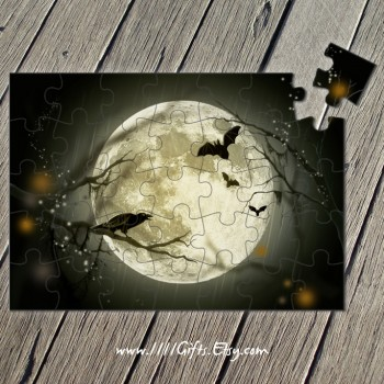Printable 35-Pcs Full Moon Puzzle, Instant Download