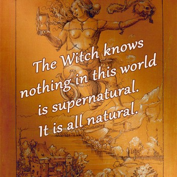 The Witch Knows Nothing in this World is Supernatural * 8x10 Printable
