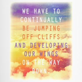 Jumping Off Cliffs Motivational T-shirts and Gifts