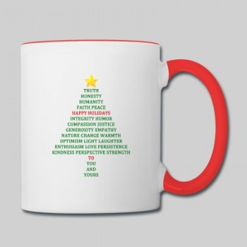 Happy Holidays Blessing Contrast  Mug