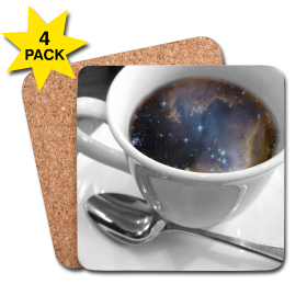 Cosmic Coffee Cup Coasters - 4 Pack