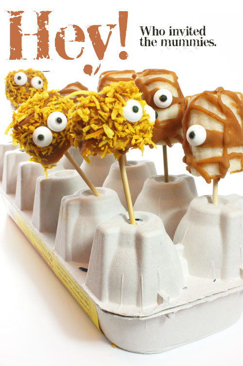 Frozen banana mummies - vegan halloween idea