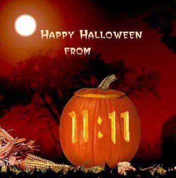 happy halloween 1111 pumpkin