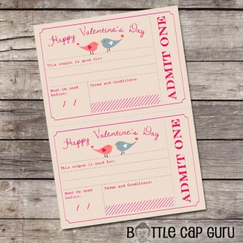 Printable Valentine's Day Coupons / Valentines Day Gift for Him, Her, Kids