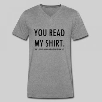 you read my shirt mens vneck tshirt