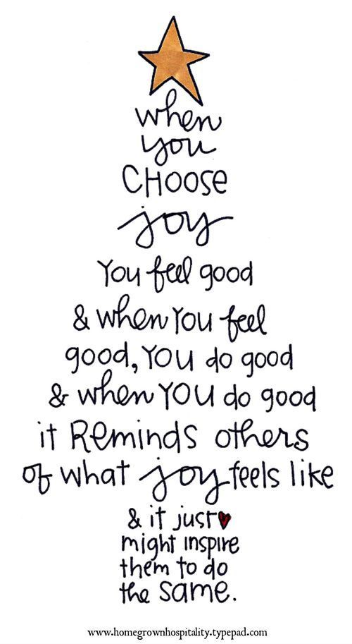 When you choose joy
