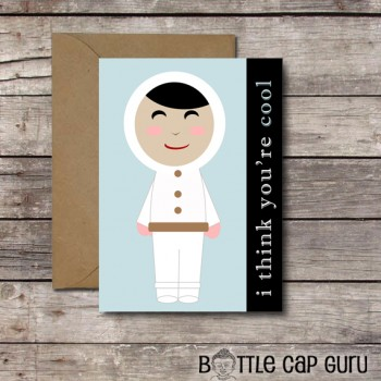 I Think You're Cool - Cute Eskimo Valentine's Day Card