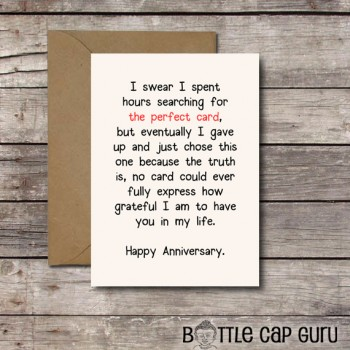THE PERFECT CARD / Romantic Anniversary Card Printable