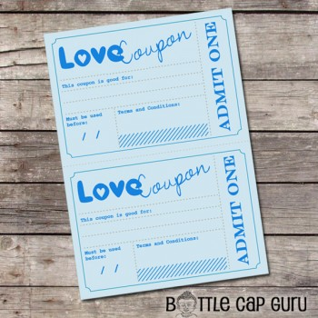 Printable Love Coupons. Romantic DIY gift idea. Instant download