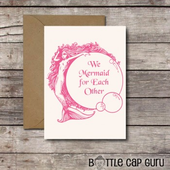We Mermaid for Each Other / Funny Romantic Card / Printable