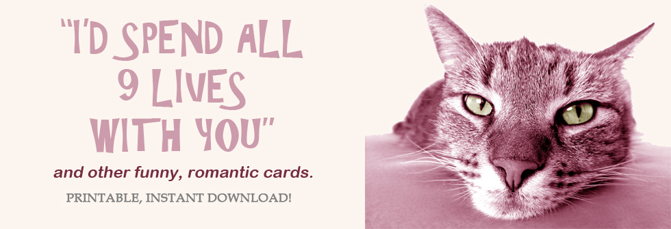 Printable romantic cards