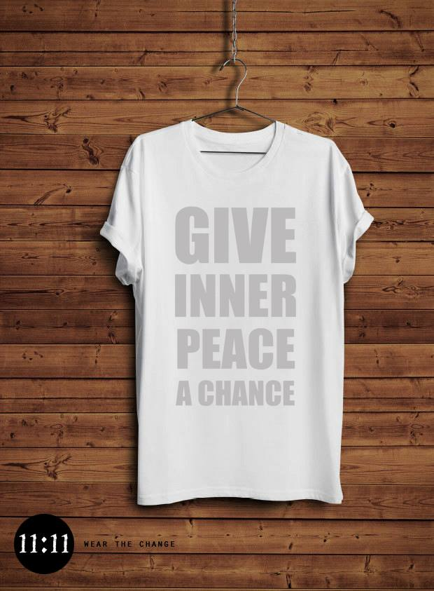 give inner peace a chance tshirt