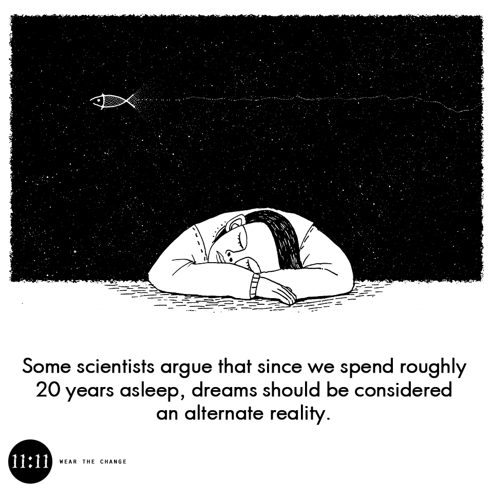 Some scientists argue that since we spend roughly 20 years asleep, dreams should be considered an alternate reality.
