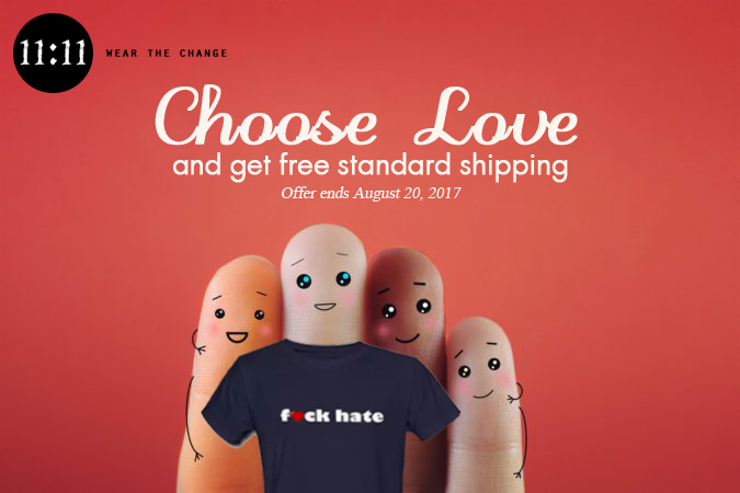 Choose Love and Get FREE Shipping