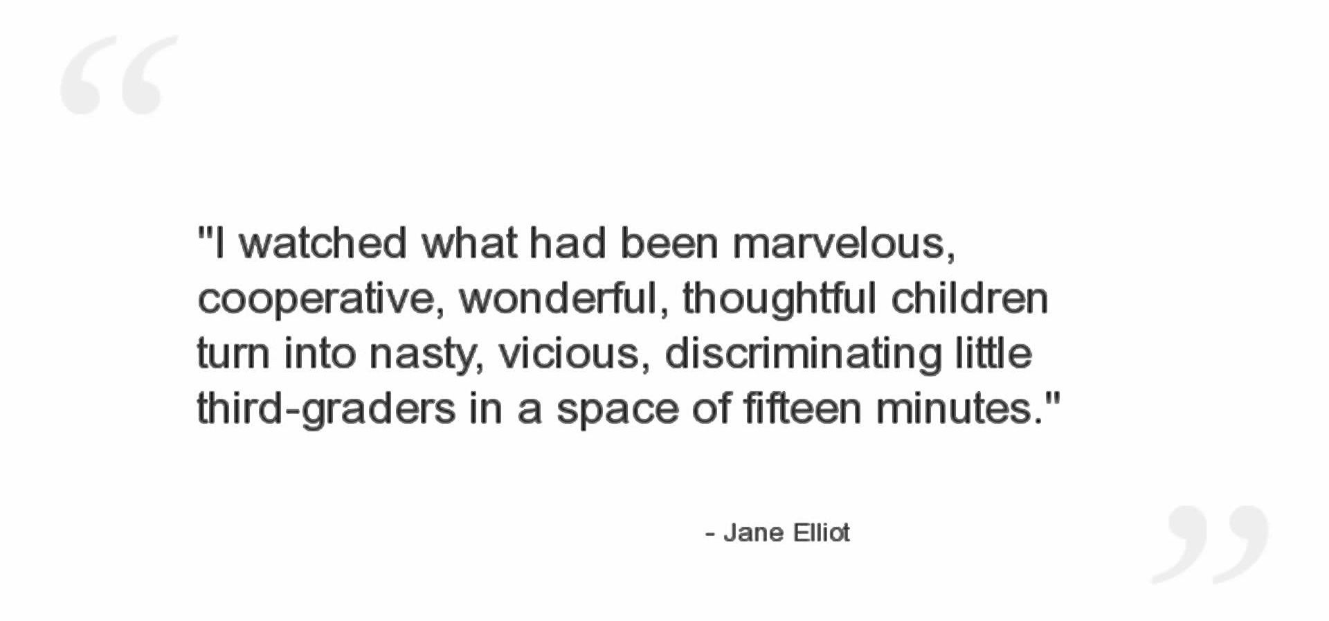 jane elliott quote